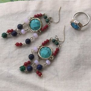 3/$9🔴Express Earrings and Ring Set